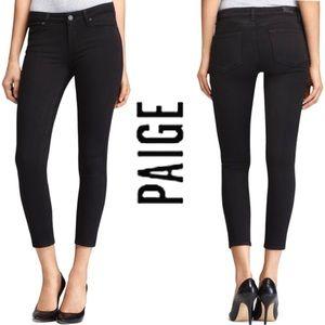 PAIGE Verdugo Crop Skinny Jeans Black Overdye 29
